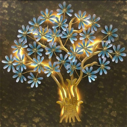 45 Inch - LED Light - Butterfly Tree - Wall Hanging - Wall Decorative - Made Of Metal