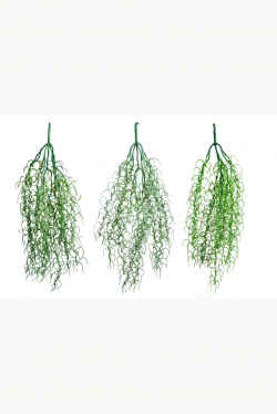 1 Inch  Artificial Grass Wall Hanging - Wine Hanging - Green Color