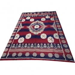 12 FT X 12 FT - Galicha - Carpet - Rugs - Dhurrie - Dari - Floor Mat - Satranji - Made Of Cotton - Multi Color