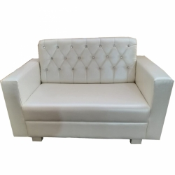 3 Seater Sofa - VIP Sofa - Made Of Steel & Fome - White Color