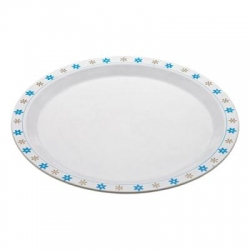 13 Inches Dinner Plates  - Made Of Food Grade Virgin Plastic - White Color