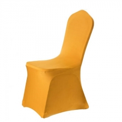 Lycra Chair Cover - Without Handle - For Plastic Chair - Skin Fitting Chair Cover - Yellow Color