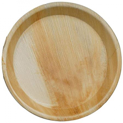 10 Inch - Round Shallow - Disposable Dinner Plate - Areca Leaf Round Shallow Plates
