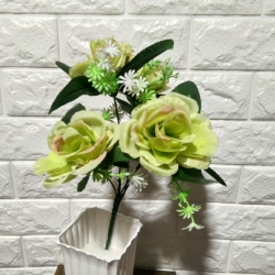 12 Inch - Artificial Flower Bunches - Fake Flowers Artificial Plant for Wedding - Reception - Home Decor -  Multi Color .
