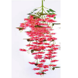 Height - 54 Inch - Artificial Chameli Hanging - Latkan - Flower Decoration - Artificial Hanging - AF 284 - Light Cherry Color