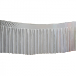 15 FT - Table Cover Frill - Counter Jhalar - Made Of Brite Lycra - White Color