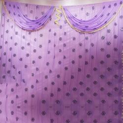 10 FT X 15 FT - Designer Curtain - Parda - Stage Parda  - Wedding Curtain - Mandap Parda - Back Ground Curtain - Side Curtain -  Made of 24 Gauge Brite Lycra - Purple Color