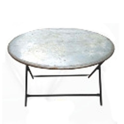 (4 X 4 Feet Round Table) - Catering Center Table - Made Of Iron .