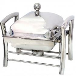 5 LTR - Chafing Dish - Hot Pot Dish - Garam Set - Buffet Set - Made Of Stainless Steel (6.5 Kg)