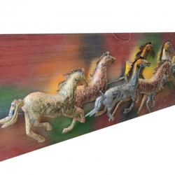 1.5 FT X 4 FT - LED Wall Frame - Wall Frame - Seven Horse  Wall frame - Multi Color