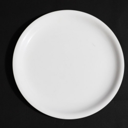9 Inch - Dinner Plate - Made of Food Grade Acrylic - Round Shape - White Color