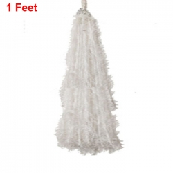 1 Ft Hanging Fur / Lout-con / Wall Hanging / Sparkled Fur / White Color .