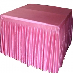 4 FT X 4 FT - Square Table Cover - Made Of Premium Quality Brite Lycra - Pink Color