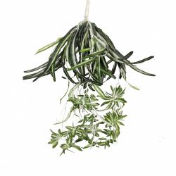 30 Inch - Artificial Flower Hanging Basket - Flower Decoration - Green Color