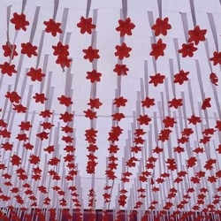 15 FT X 15 FT - Ribbon Ceiling Gallery - Satin Fabric Ribbon With Taiwan Cloth - White Color.
