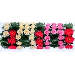 2.5 FT X 1 FT - Plastic Artificial Flower Panel - Flower Carry - Flower Decoration - Multi Color