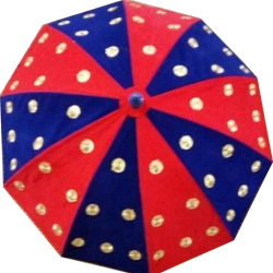 4.5 FT - Finish Fancy Umbrella - With Stand - Wedding Umbrella - Red & Yellow Color