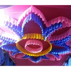 Designer Mandap Ceiling - Wedding Top - Base Made Of 16 KG Taiwan - Work 24 Gauge Brite Lycra - Multi Color