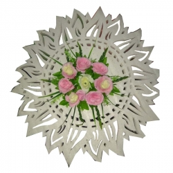 2.6 FT - Multi Color - Artificial Flower With Frame - For Indoor & Out Door Decoration
