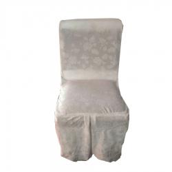 Chair Cover - Heavy Velvet - Fabric - White Color