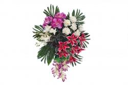 Plastic Flowers Bouquet For Party / Wedding / Office Decoration / Multi Color