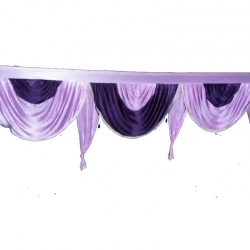 Jhalar - Mandap Jhalar For Wedding & Party - Made Of Heavy Brite Lycra Cloth (Size Available in 10 FT X 15 FT X 30 FT )
