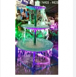 4 FT Diameter Tub - Disc Model Fountain without Light - Made of Galvanized