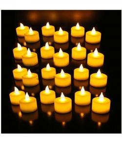 Flame Less LED Tea - Candle Light Set (Flame Less) 1 Box 24 Pieces