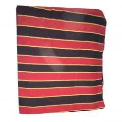 9 FT X 12 FT - Regular Quality - Dari - Dhurrie - Rugs - Satranji - Floor Mat - Red & Black Color