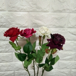35 Inch - Artificial Flower Bunches - Flowers Artificial Leaf - Velvet Flower - For Wedding - Reception - Home Decor