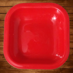 4 Inch Chat Plates - Snacks Plates - Made Of Food Grade Virgin Plastic Material - Red Color
