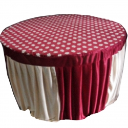 4 FT X 4 FT - Round Table Cover - Made of Premium Quality 26 Gauge Brite Lycra - Multi Color