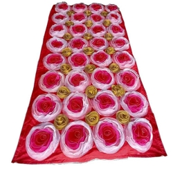 8 Ft X 4 FT Artificial Flower Panel - Back Material Taiwan Cloth - Multi Color