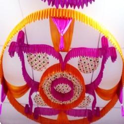 15 FT X 15 FT - Designer Mandap Ceiling Cloth - Top 14 KG Taiwan - Design Brite Lycra Cloth - Multi Colorn