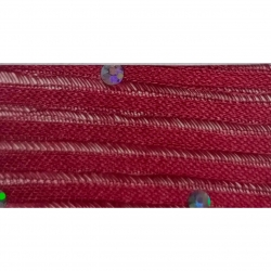 Sparkle Tikli Work Cloth - 52 Inch Panna - 10 Meter Quality - Drapping Cloth - Maroon Color