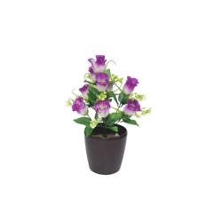 1.2 FT - Artificial Flower Bunches - Fake Flowers Artificial Plant without Pot - Purple Color