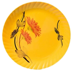 11 Inch Second Quality Dinner Plates - Made Of Food-Grade Regular Plastic Material - Leher Round Shape - Printed Plate.