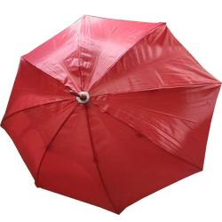 24 Inch Height & 28 Diameter - Umbrella Handicraft Walking Stick Umbrella - Red Color