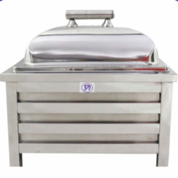 7.5 LTR - Silver Chafing - Chafing Dish - Hot Pot - Made Of Stainless Steel