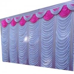 10 FT X 20 FT - Designer Curtain - Parda - Stage Parda - Wedding Curtain - Mandap Parda - Back Ground Curtain - Side Curtain - Made Of 28 Gauge Brite Lycra - Multi Color