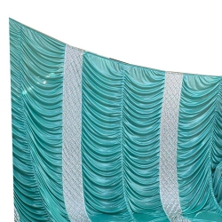 11 FT X 15 FT - Parda - Curtain - Stage Parda - Wedding Curtain - Mandap Parda - Made of Brite Lycra
