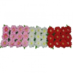 4 FT - Plastic Artificial Flower Panel - Main Door Hanging For Wedding & Decoration ( With out foam at back )