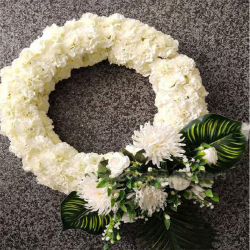 35 Inch  X 24 Inch - Hanging Frame Ring - Artificial Flower With Frame - For Indoor & Out Door Decoration - Multi Color