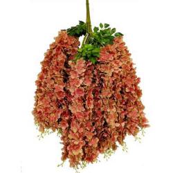 Height - 42 Inch - Hydrengea Wisteriya - Latkan - Flower Decoration - Artificial Latkan - Plastic Latkan - AF 1032 - 747 - Multi Color - 1 Packet ( 12 Pieces )