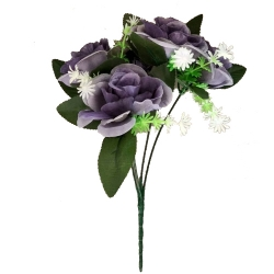 12 Inch Artificial Flower Bunches - Fake Flowers Artificial Bunch - Decoration - Multi Color