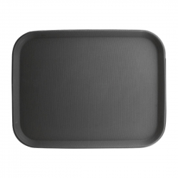 The Urban Kitchen Non-slip Tray - Plastic - Rubber Lined - Rectangular (18 X 26 Inch ) Black Color