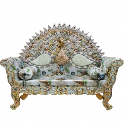 Multi Color - Heavy Premium Metal Jaipur Couches - Sofa - Wedding Sofa - Wedding Couches - Made Of High Quality Metal & Wooden