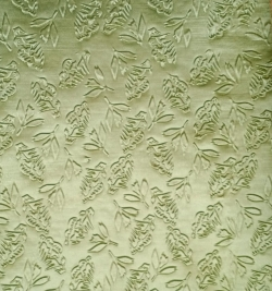 3D Punching Work on Warp Nitting Crush Cloth - 48 Inch Panna - Emboss Work - 5 Meter Quality -Green Color