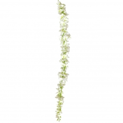 2.8 FT - Plastic Artificial Flower - Latkan - Flower Decoration - White Color