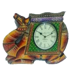 18 Inch - Wooden Camel Shape Clock Watch - Made Of Wooden